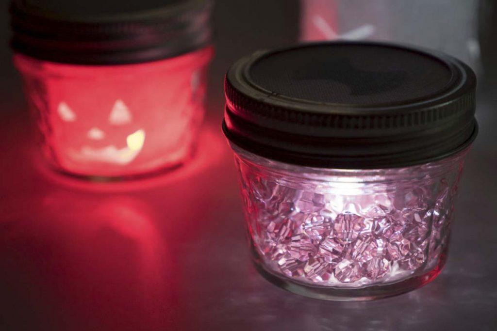 Colorful Mason Jar Candle Holders